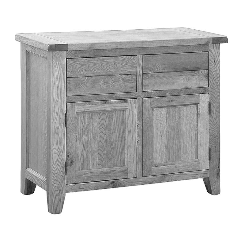 Solid Oak 2 Drawer 2 Door Sideboard