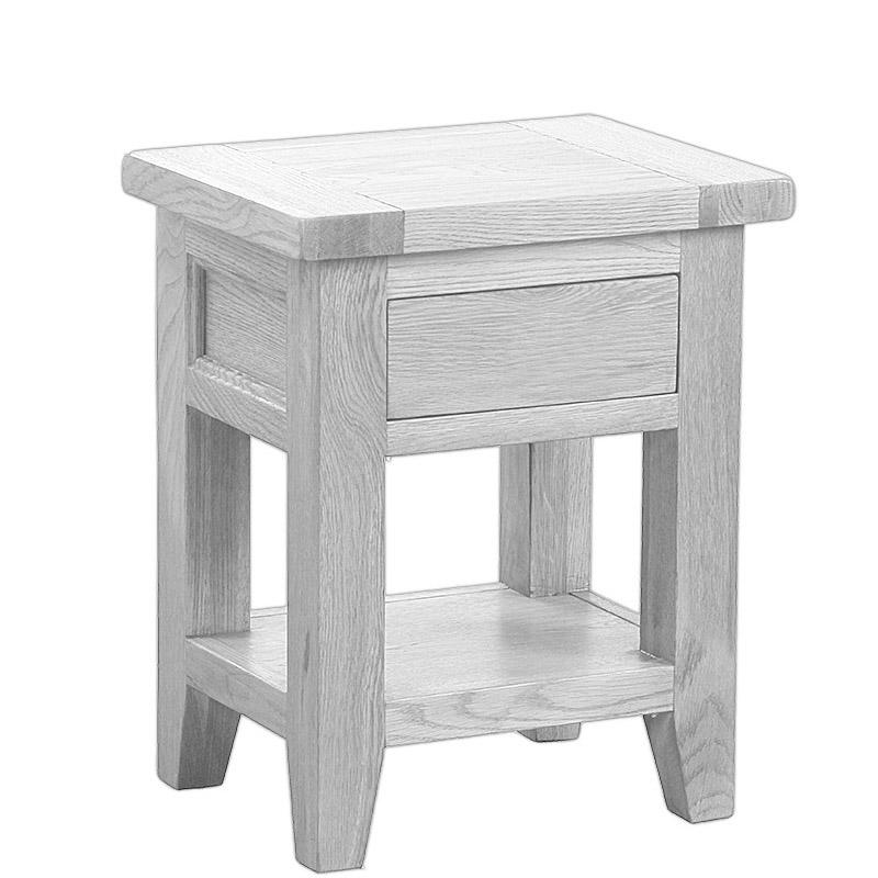 1 Drawer Open Shelf Lamp Table