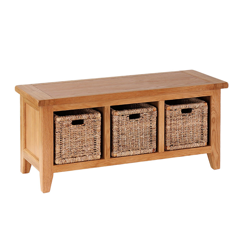 Storage Bench with Baskets